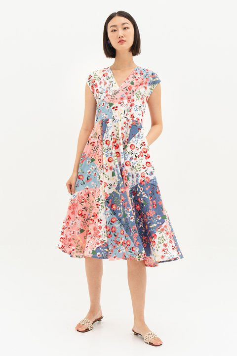 *BO* MAGDA DRESS - PATCHWORK [BY MODPARADE]