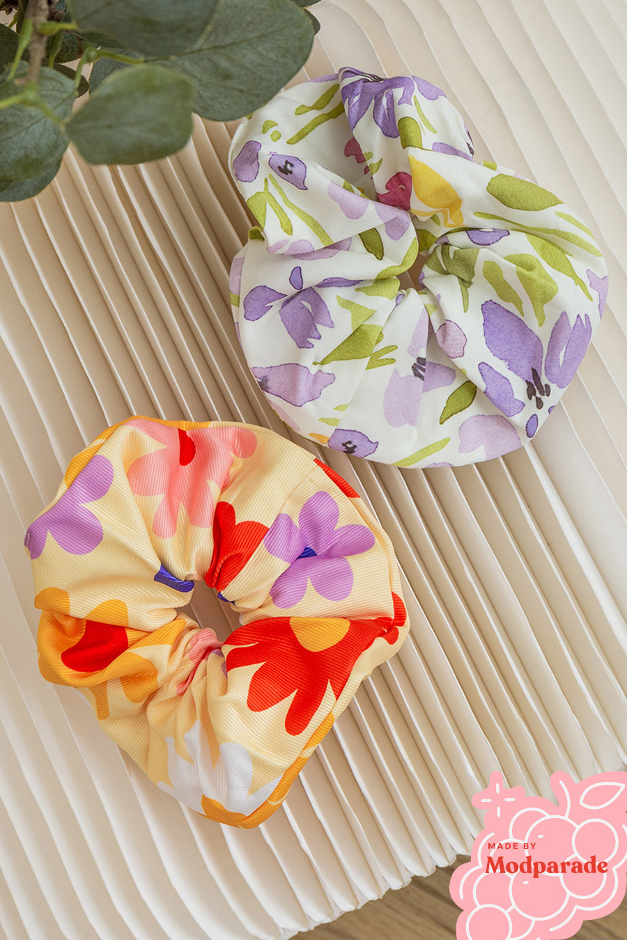 GIANT SCRUNCHIE SET 1 - BUTTER TANSY & SWEET PEA