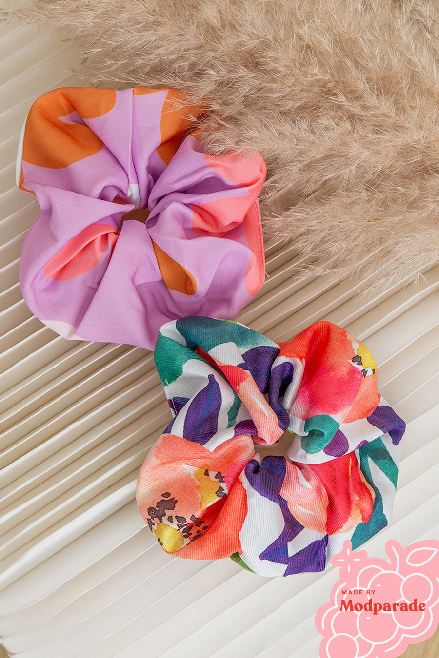 GIANT SCRUNCHIE SET 2 - DAHLIA & LUPINE