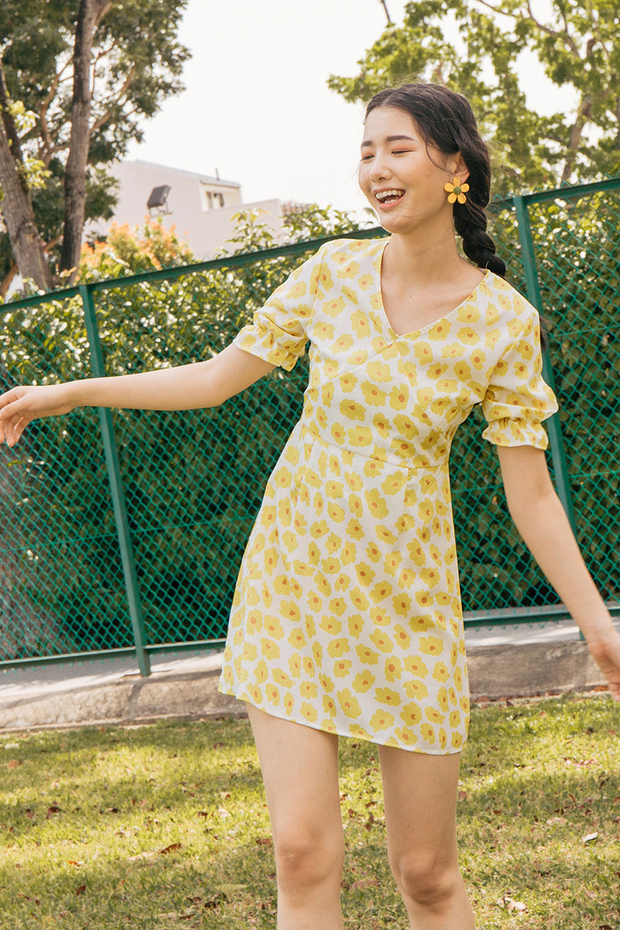ADELAIDE DRESS - MARIGOLD
