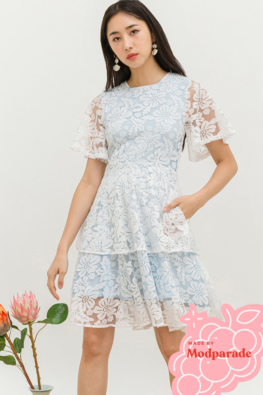 *SALE* AGATHE DRESS - SNOWFLAKES [BY MODPARADE]