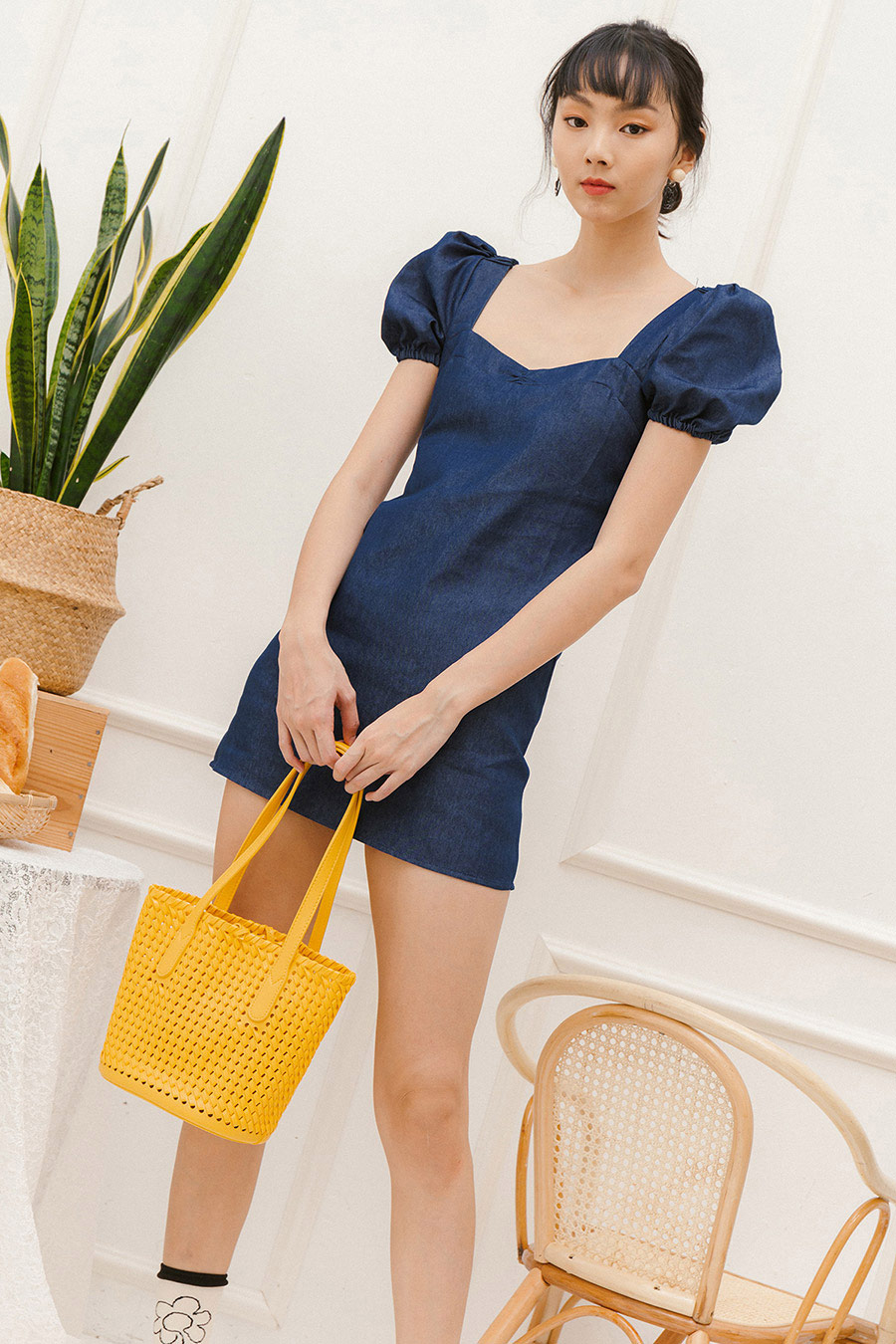 ALBA DRESS - DARK WASH