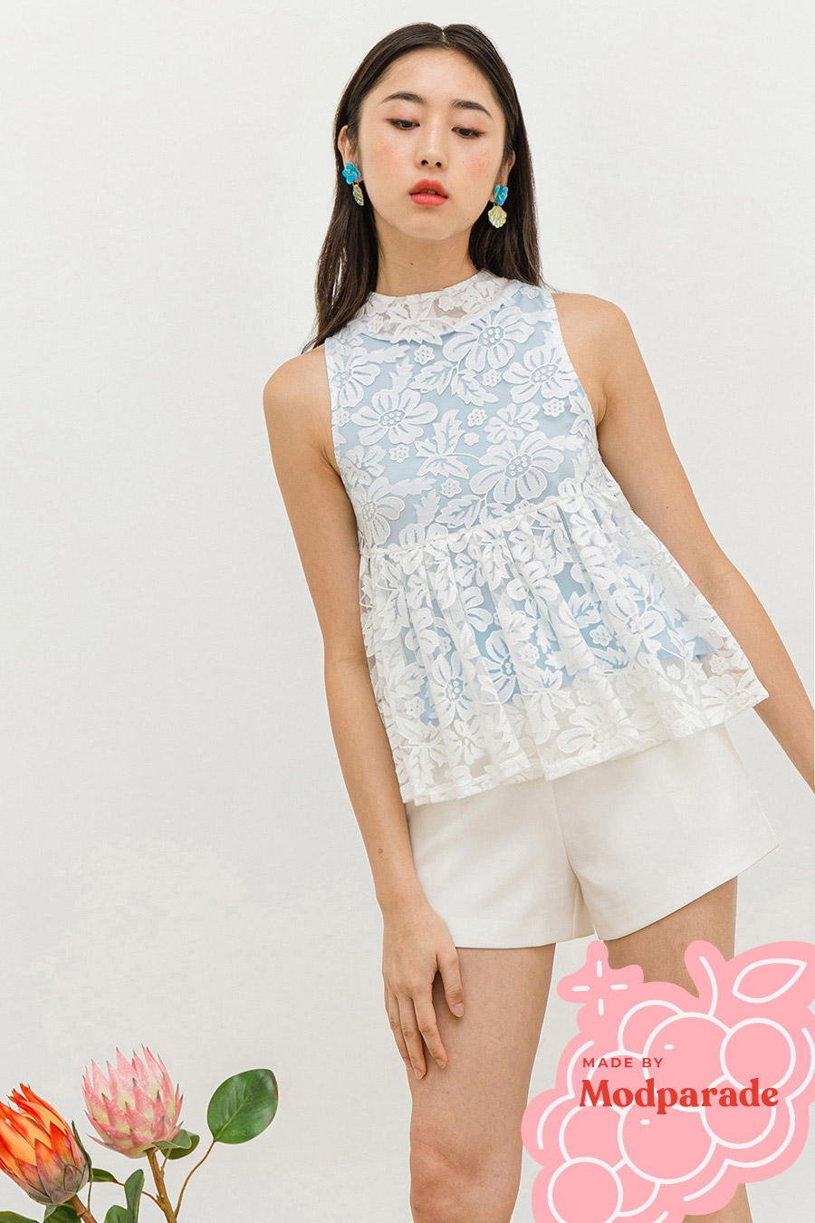 *SALE* ALLEN TOP - SNOWFLAKES [BY MODPARADE]