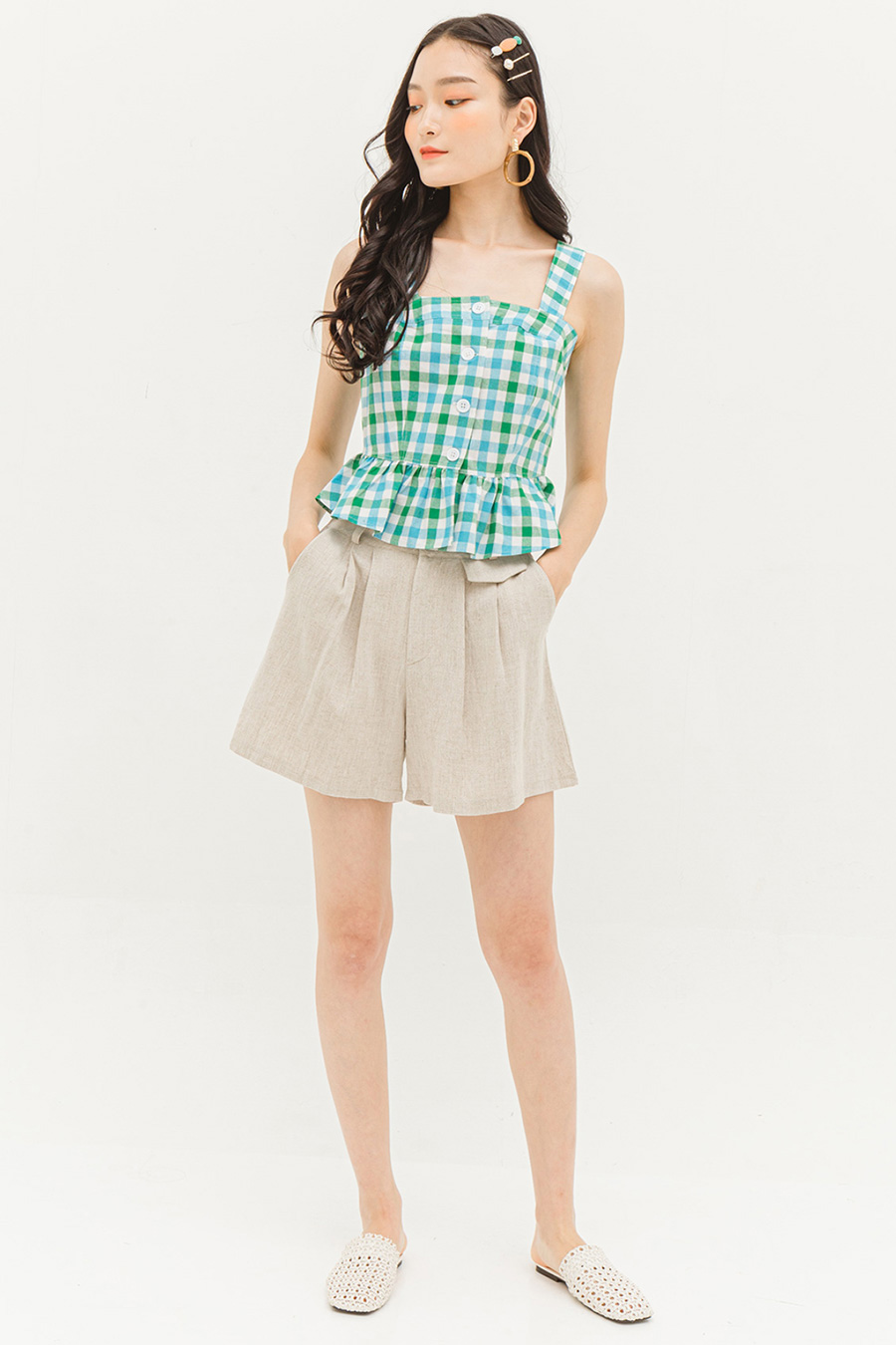 ALVA TOP - GINGHAM