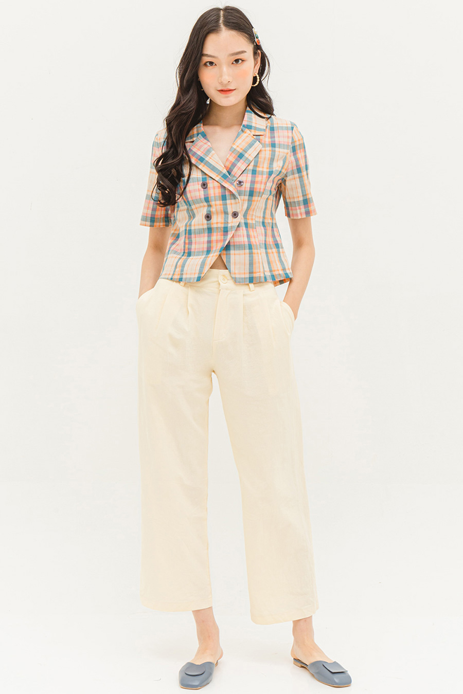 AMADA TOP - PLAID