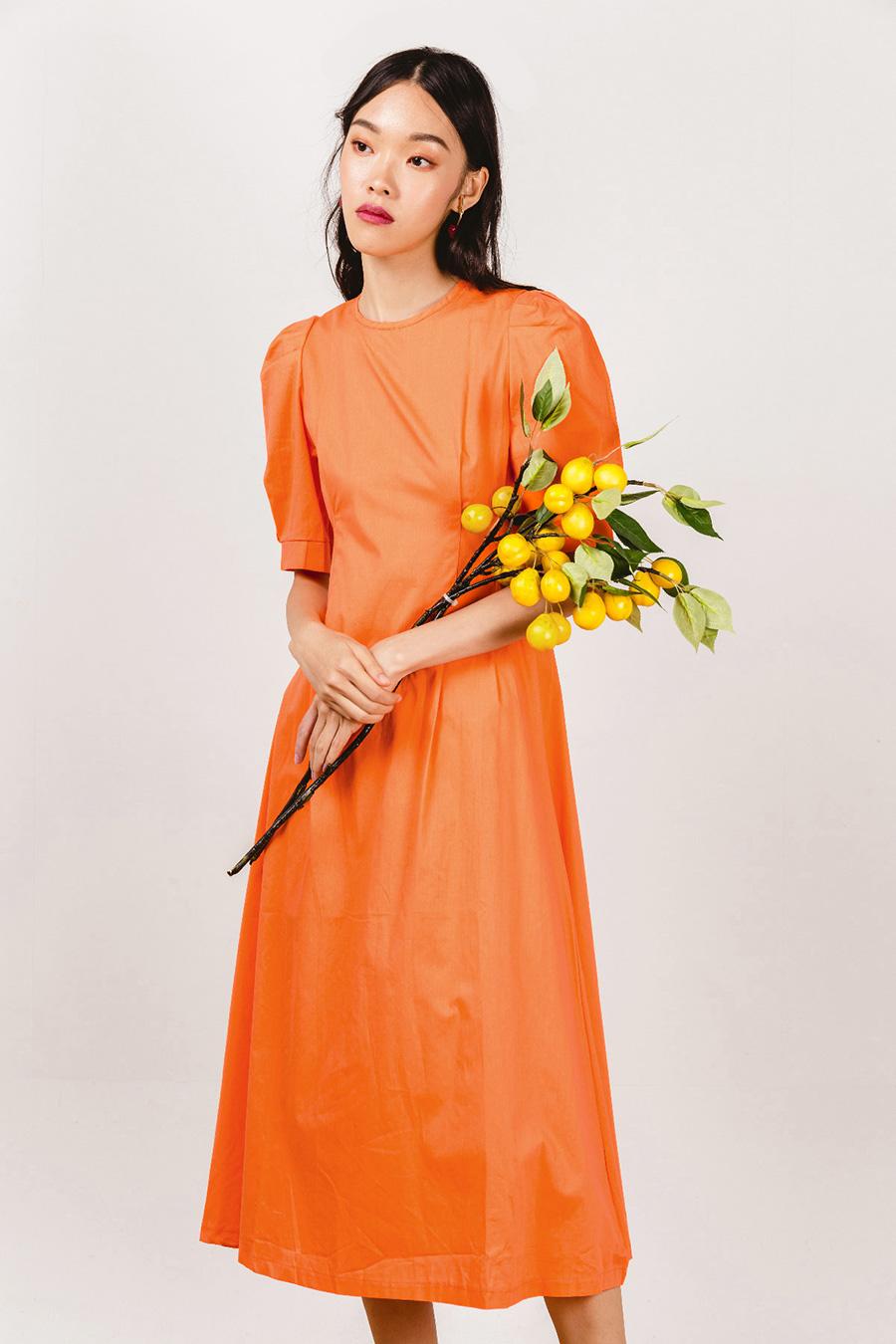 ANGELOU DRESS - VERMILLION