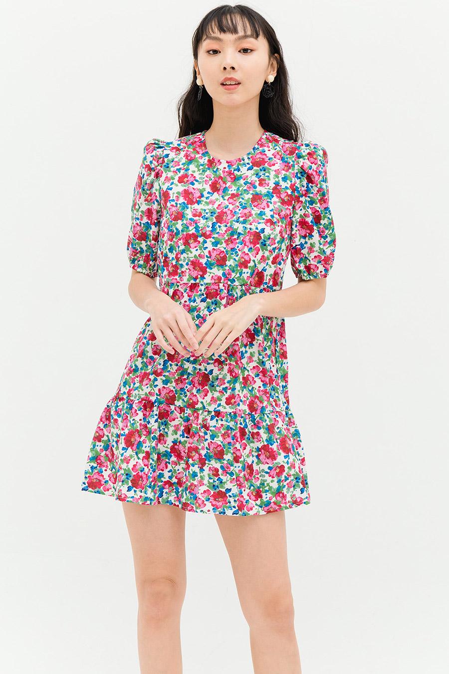 ANNABEL DRESS - IVORY FLEUR