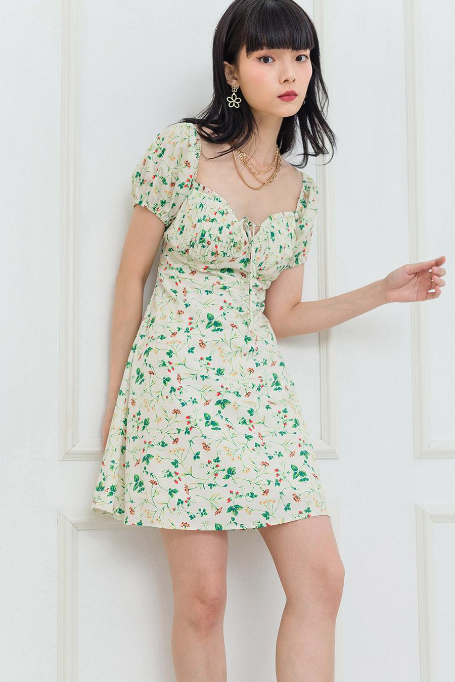 *BO* ANNE DRESS - IVORY FLEUR