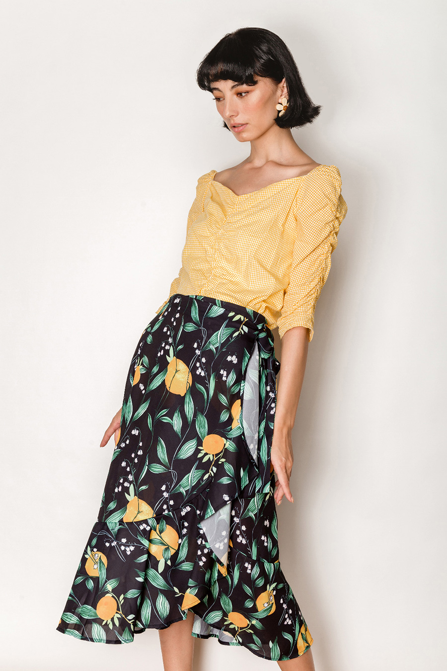 *RESTOCKED* ANTONOFF SKIRT - CITRONS