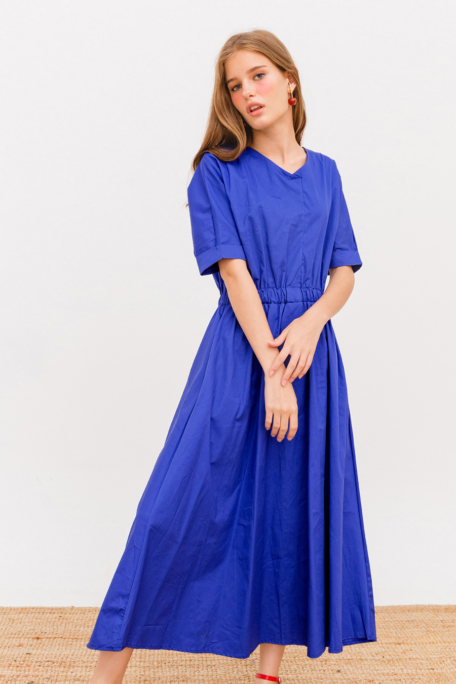 AOI MIDI DRESS - COBALT