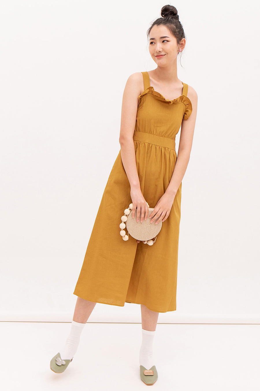 *SALE* AUBREE DRESS - OCHRE