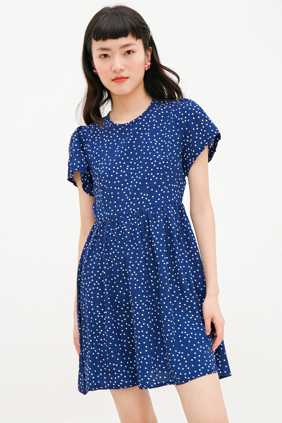AURIANE DRESS - MIDNIGHT DOTTY