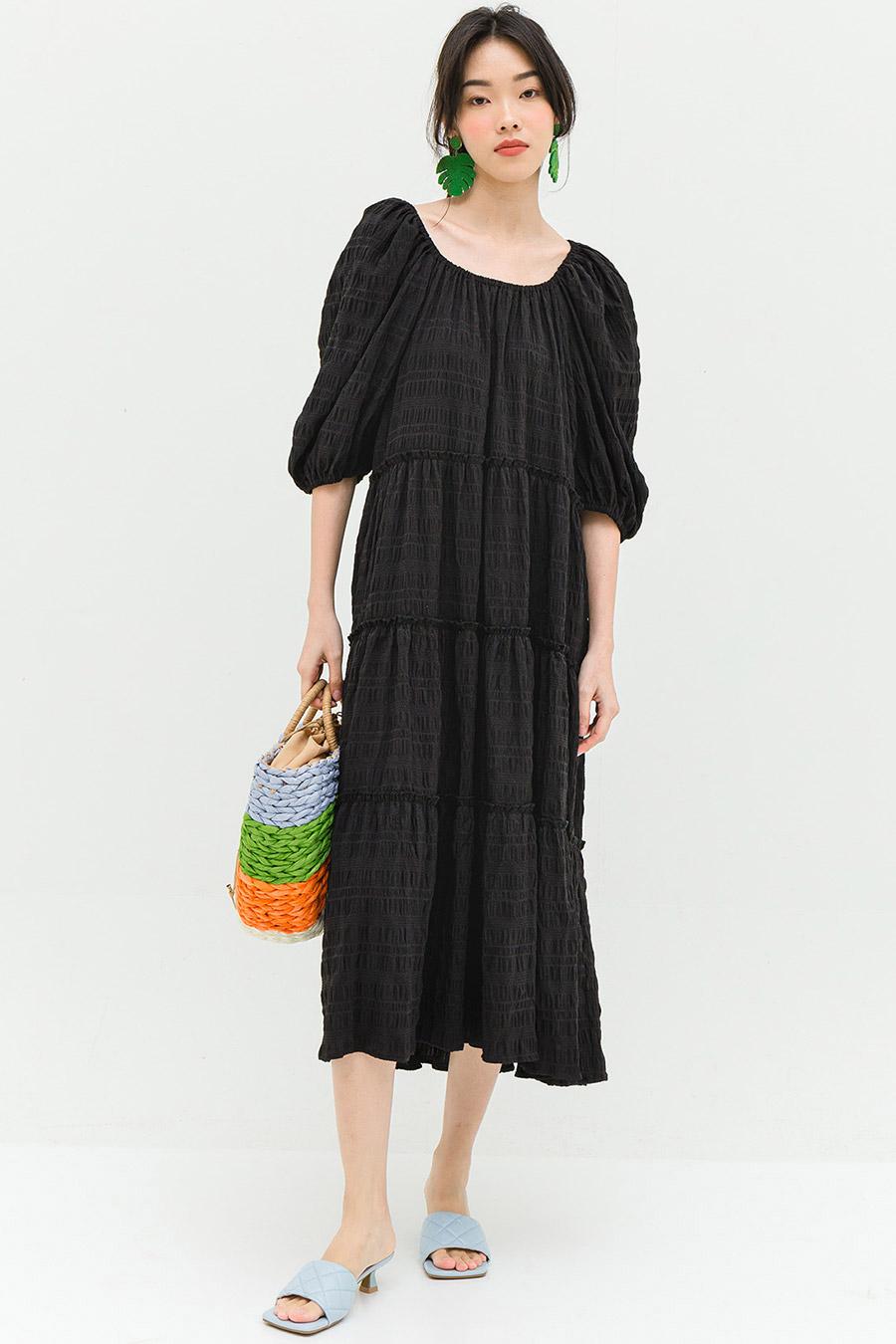 BALLIEU DRESS - NOIR