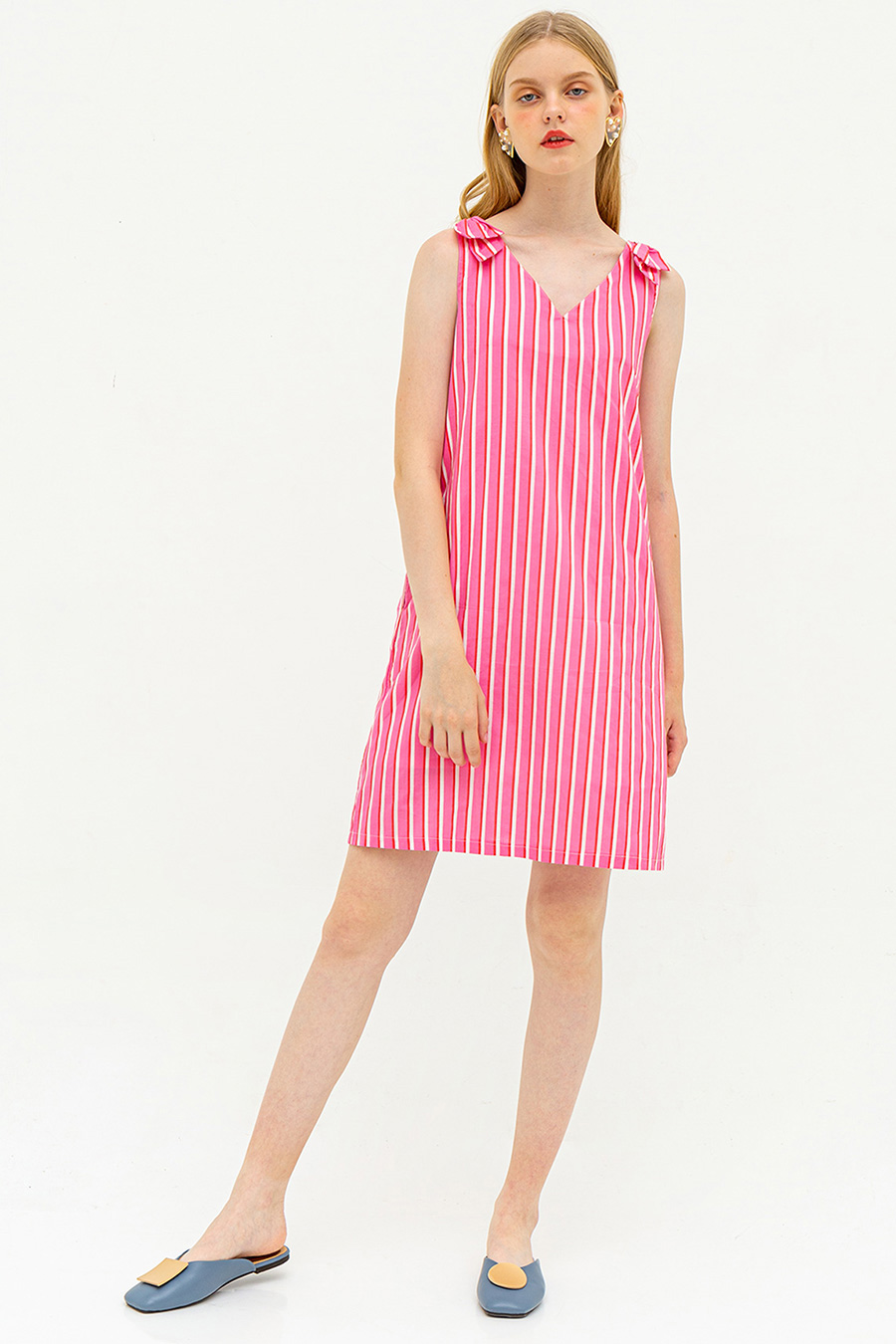 *SALE* BAMBINA DRESS - CANDY CANE [BY MODPARADE]
