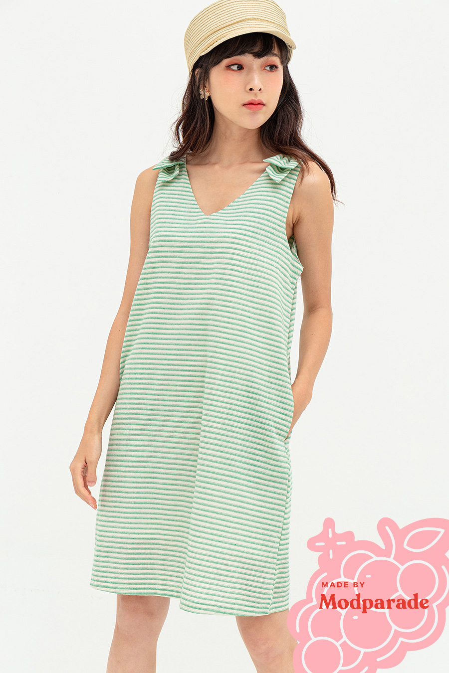 BAMBINA DRESS - NEPTUNE STRIPE [BY MODPARADE]