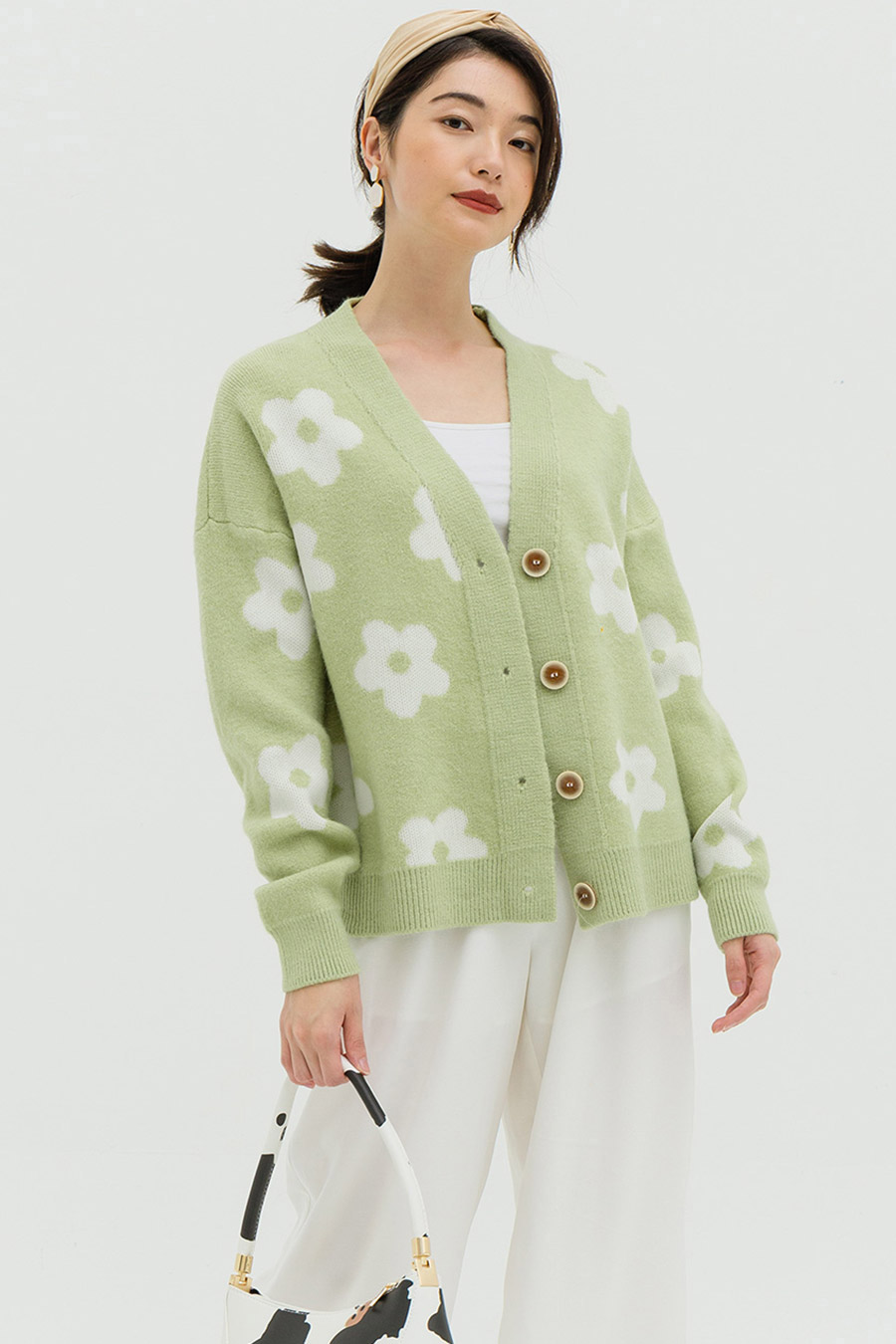 *BO 4* BARNIER CARDIGAN - MINT TEA
