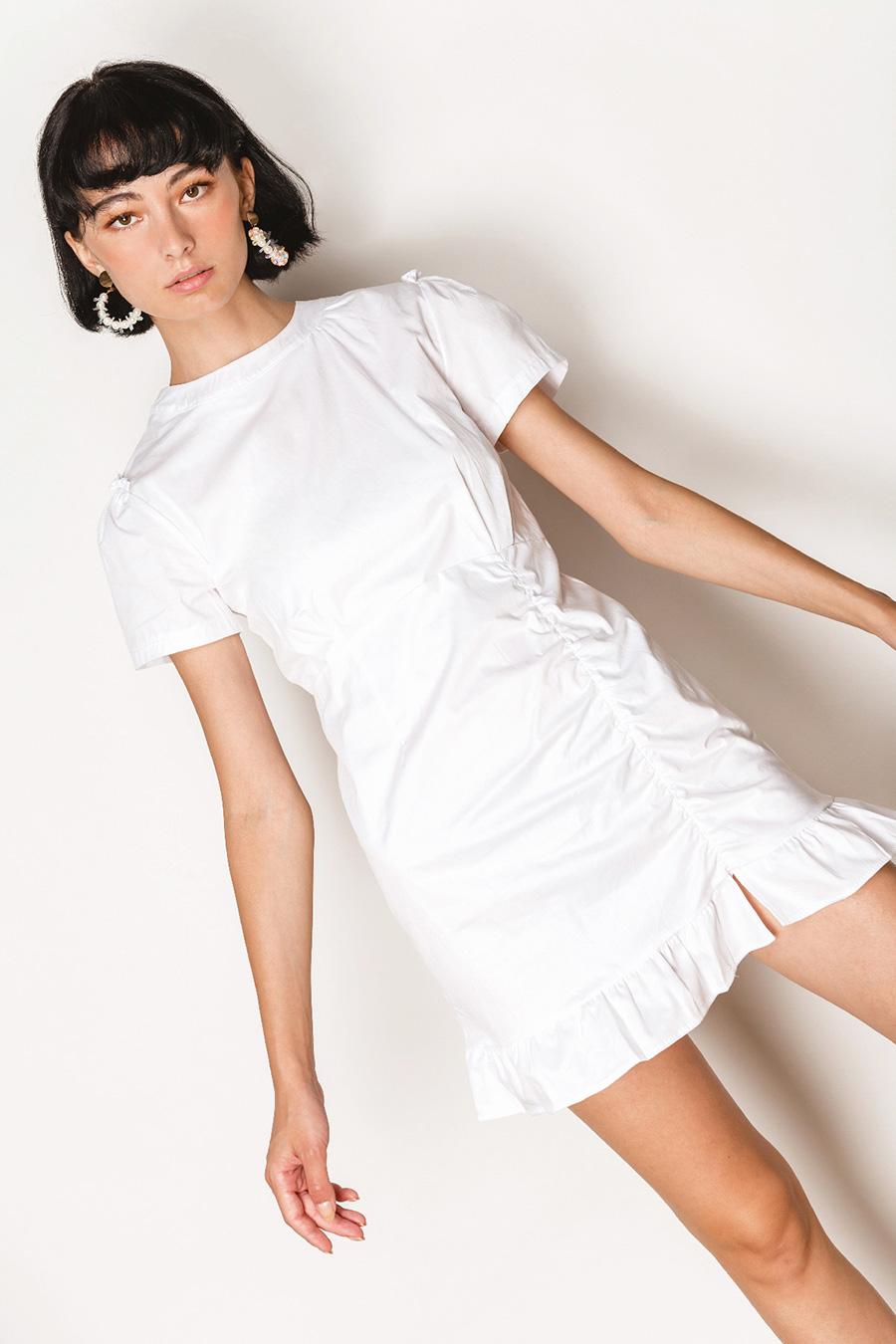 BARONESS DRESS - IVORY