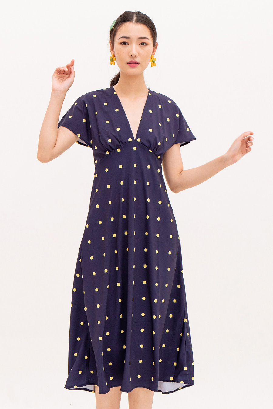 *RESTOCKED* BASHO DRESS - MIDNIGHT DOTTY