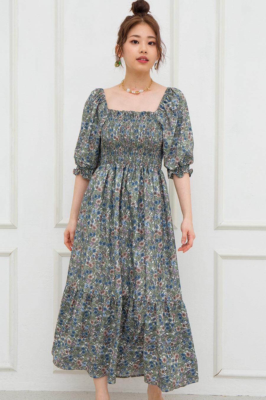 *BO* BASTIEN DRESS - IVORY FLEUR