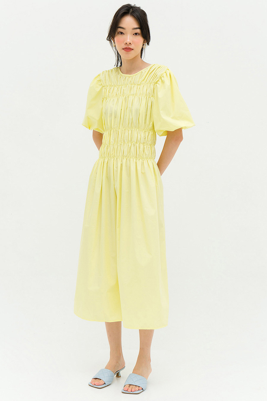 *RESTOCKED* BAUME DRESS - BUTTERCUP