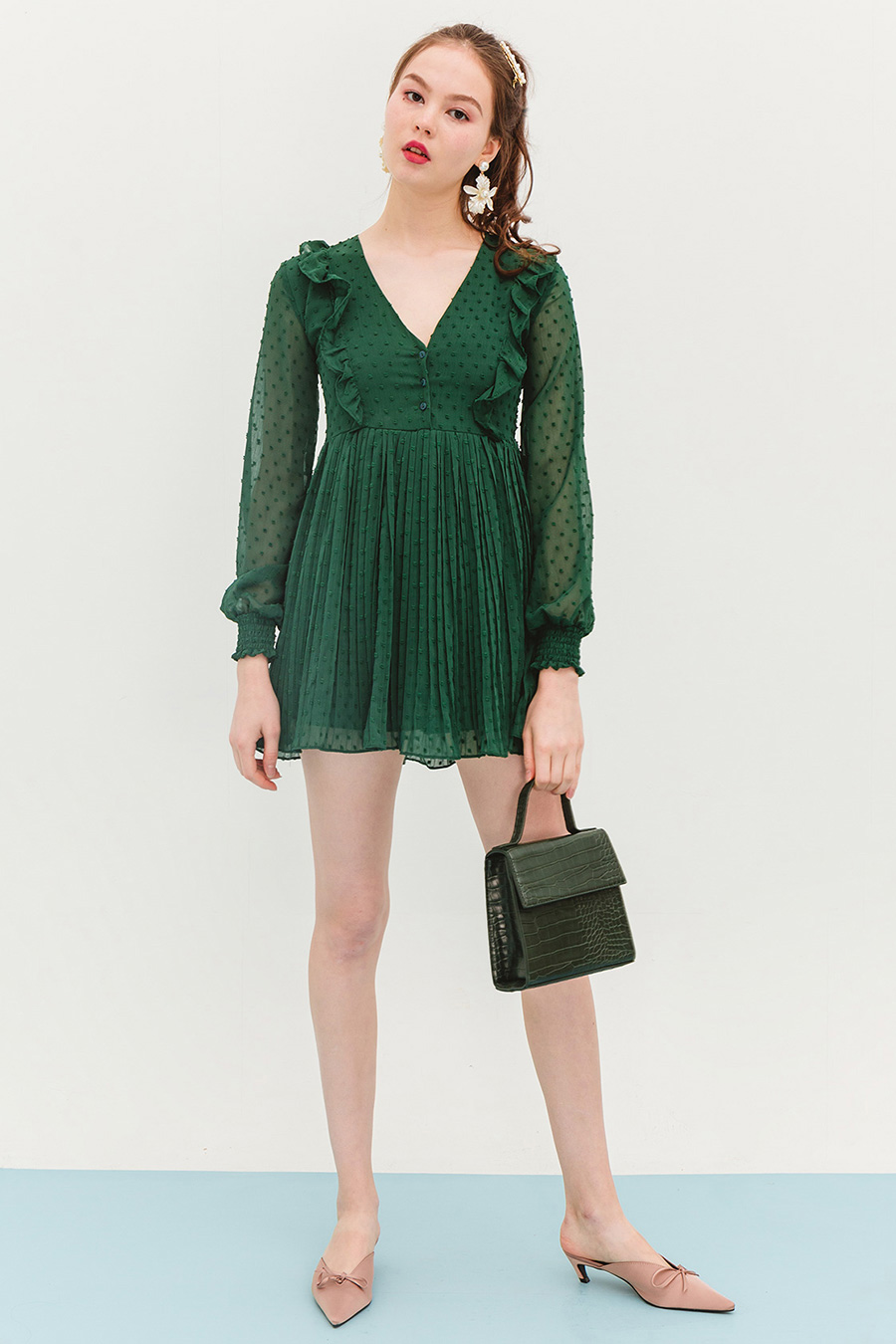 *BO* BEA DRESS PLAYSUIT - JADE