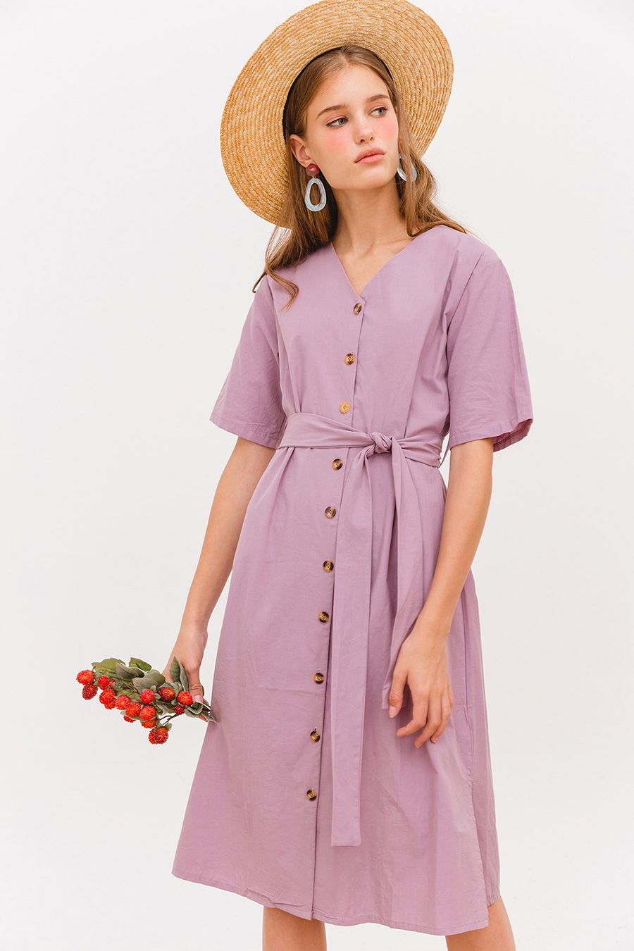 BELLONA MIDI DRESS - WISTERIA