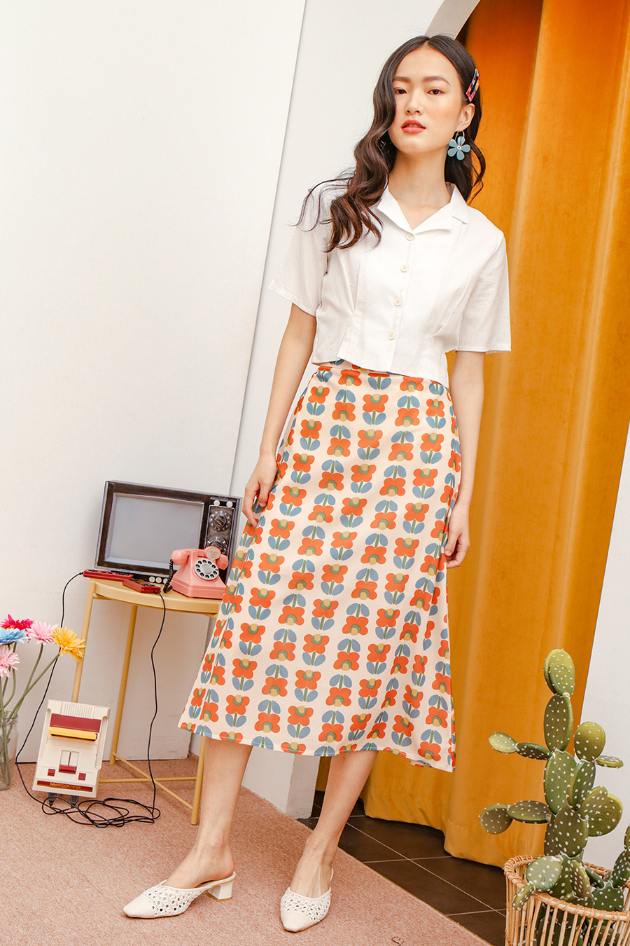 *RESTOCKED* BERTHE SKIRT - GARLAND
