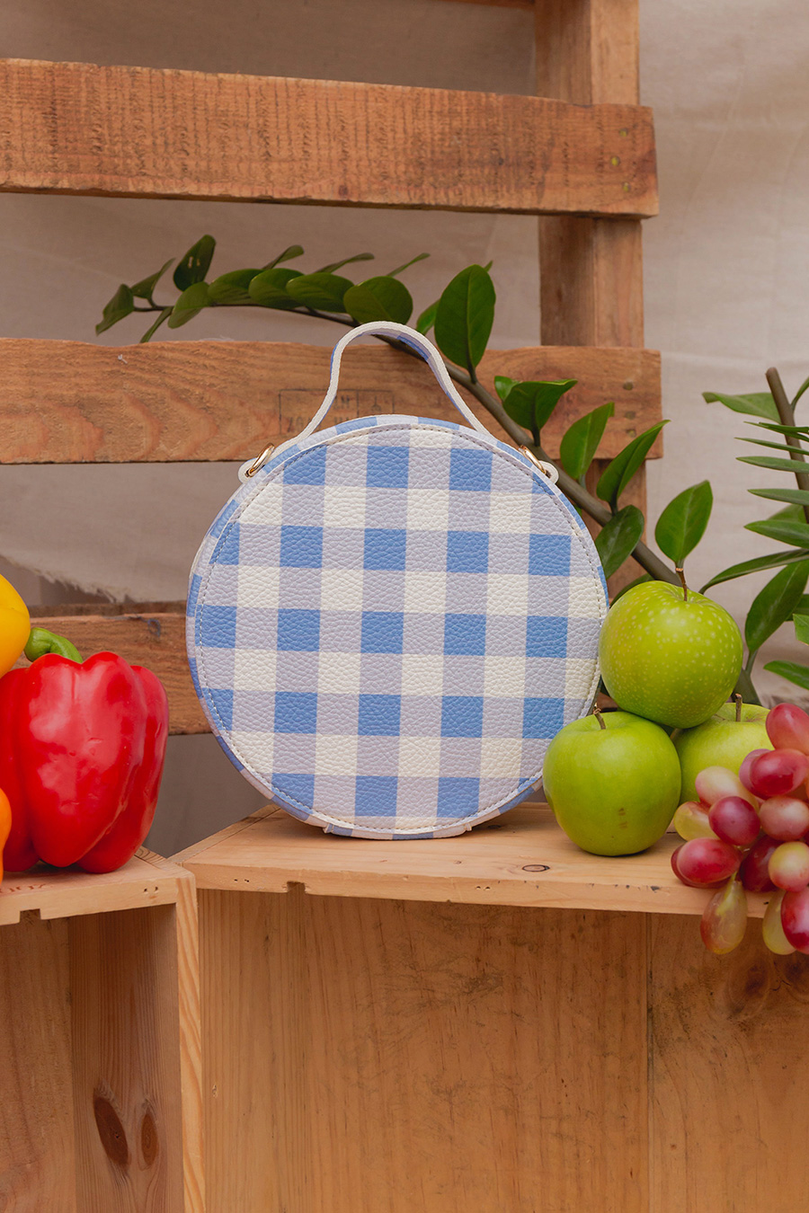 BETTY BAG - BLUE GINGHAM