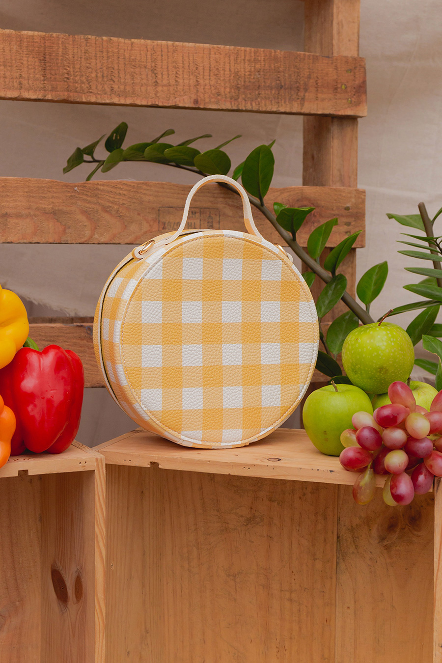 BETTY BAG - YELLOW GINGHAM