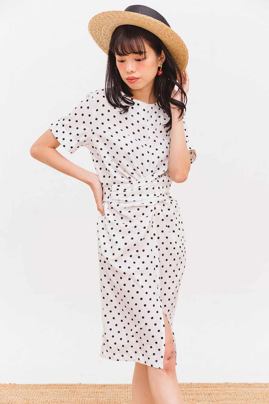 BIJOU DRESS - IVORY DOTTED