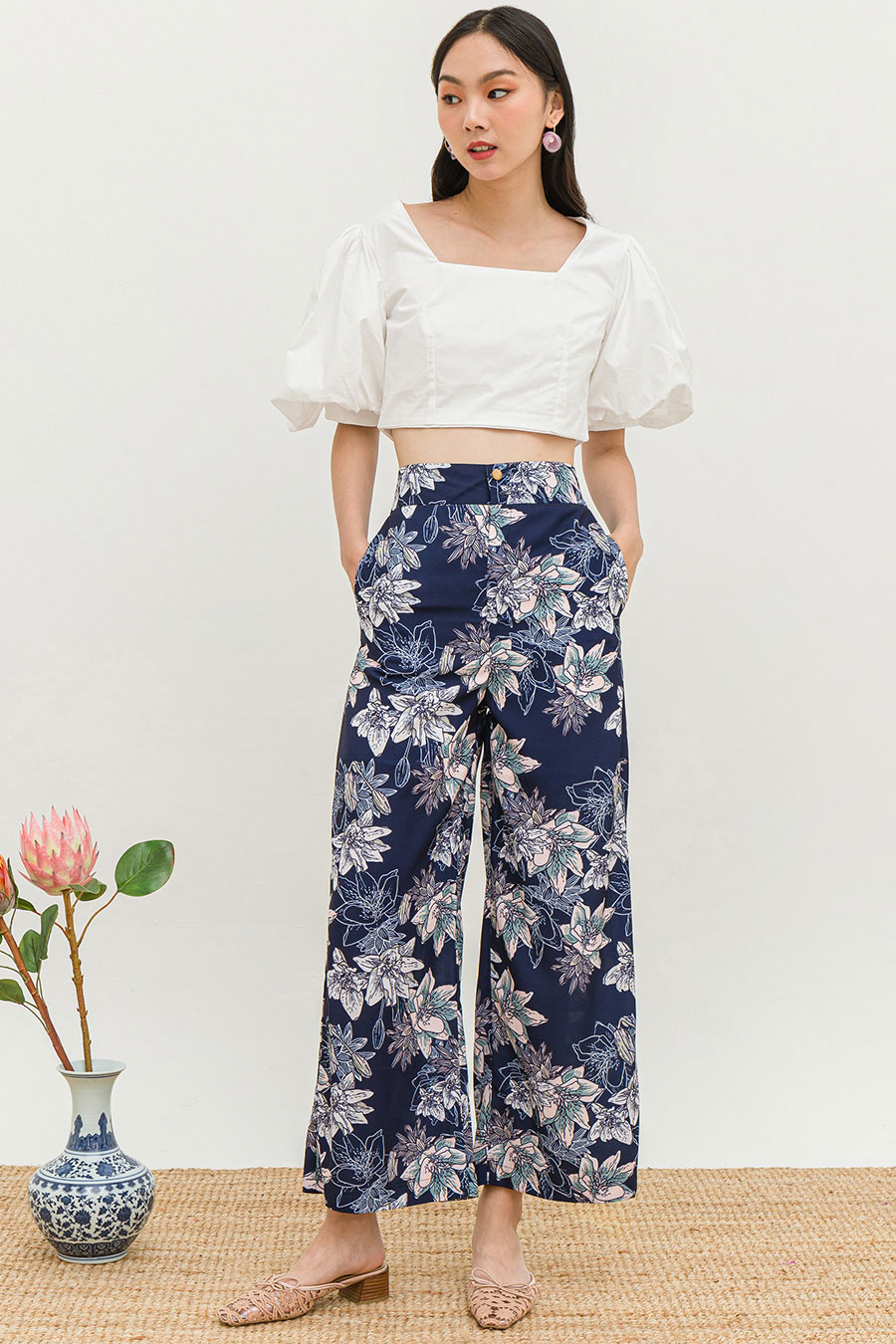*BO* BOCUSE PANTS - MIDNIGHT LOTUS [BY MODPARADE]