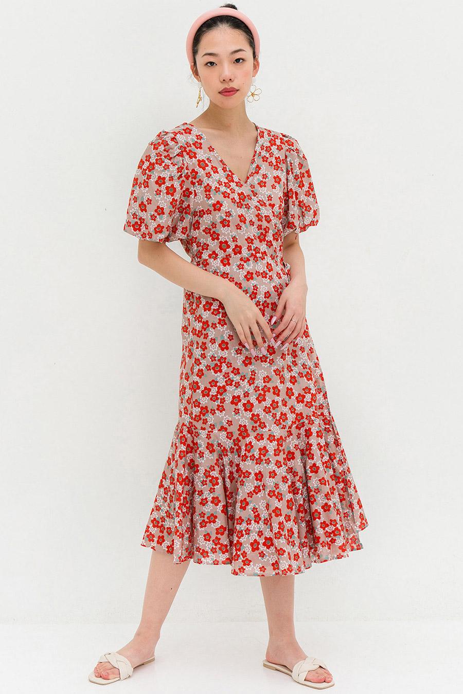 BRIELLE DRESS - NECTARINE