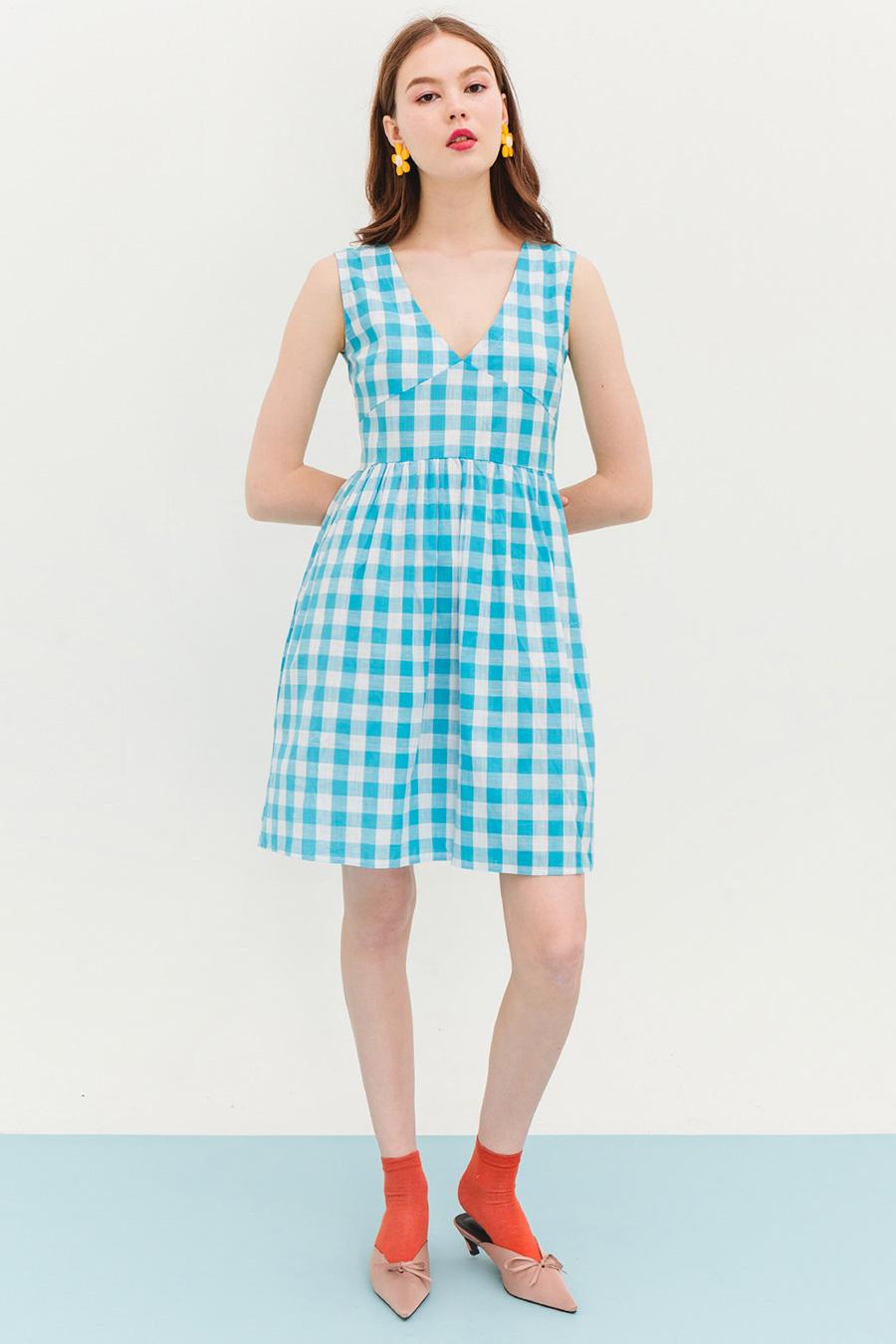BUXTON DRESS - BLUEBERRY