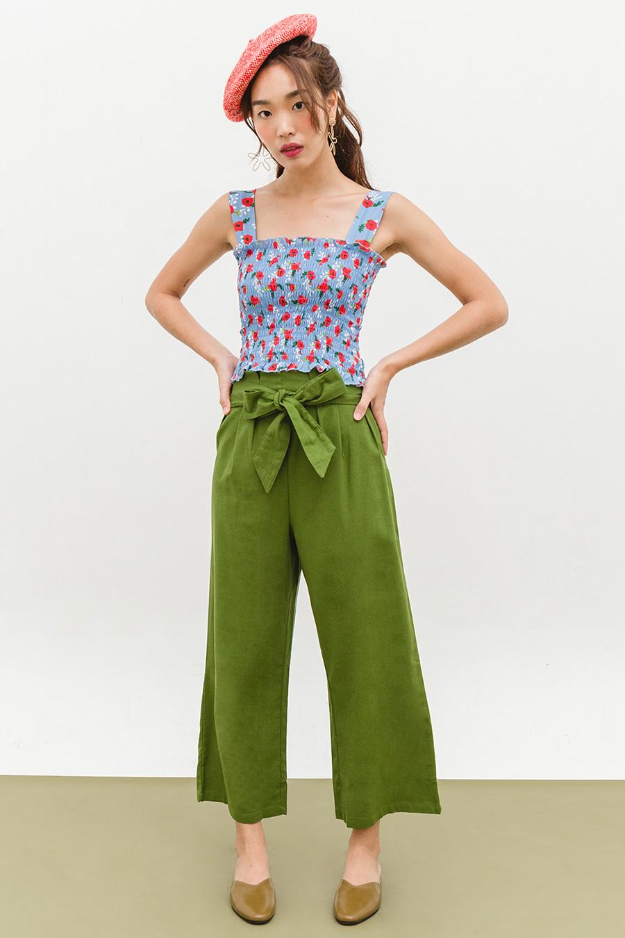 CALE PANTS - OLIVE
