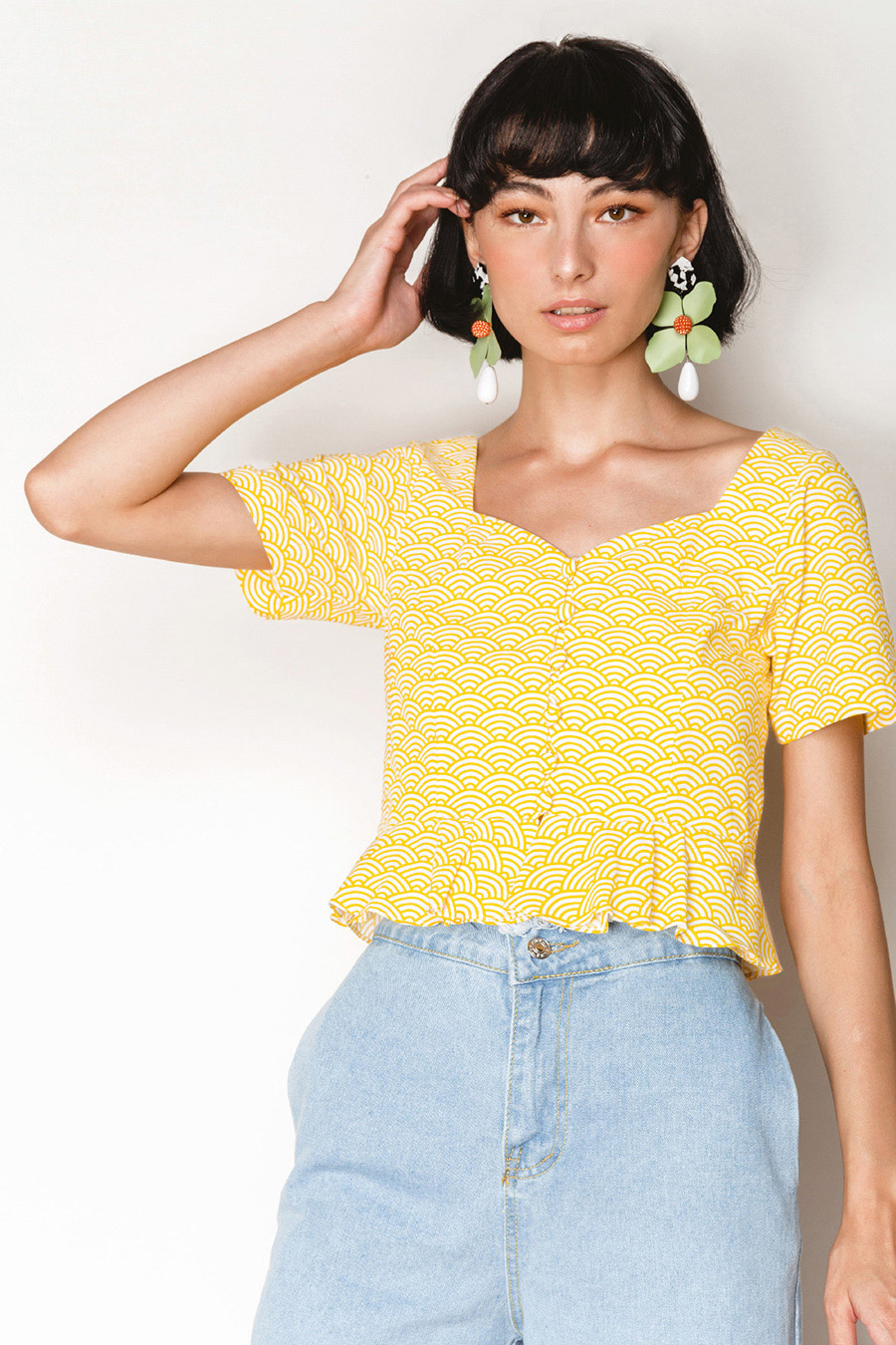 *RESTOCKED* CALIGAWA TOP - SUNSHINE [BY MODPARADE]