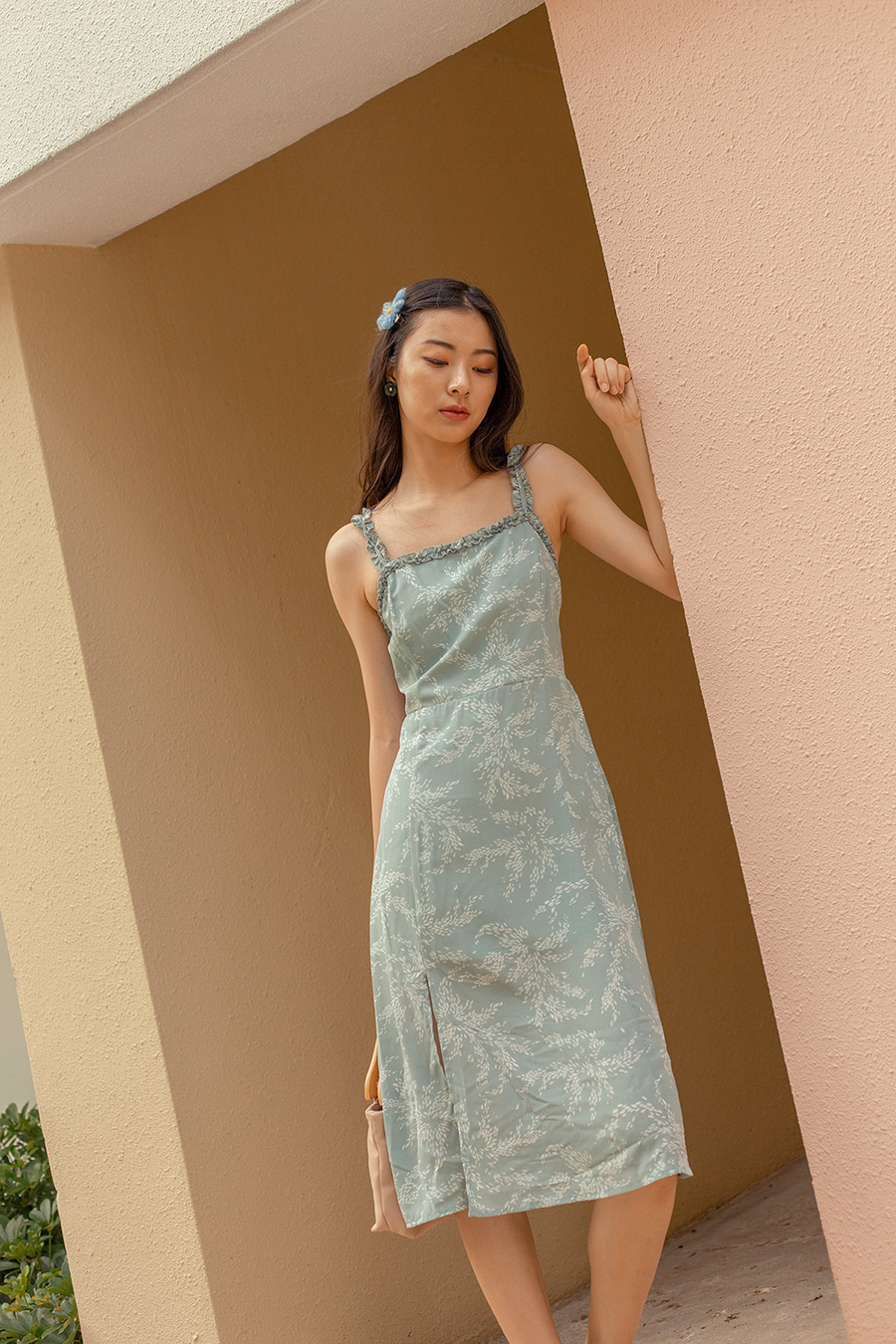 *BO* CALO DRESS - MINT FIREWORKS