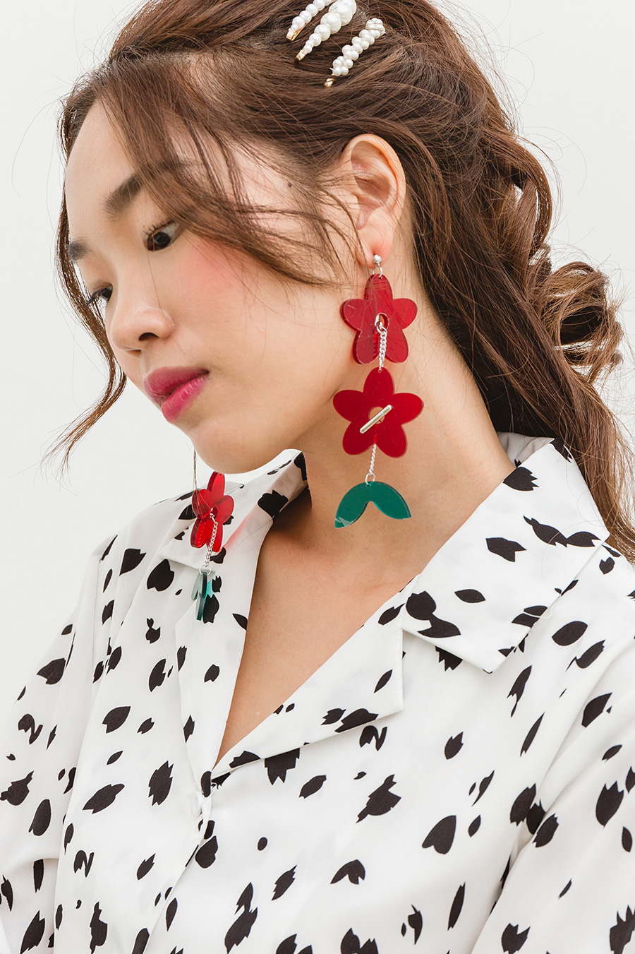 CAOI EARRING - RED GARLAND