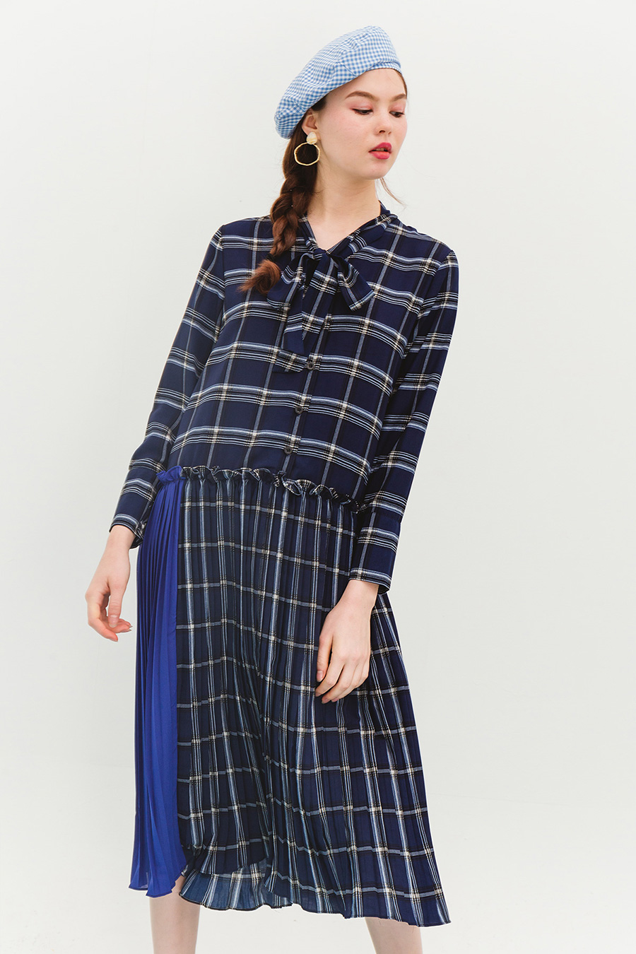 CARELL DRESS - OXFORD BLUE
