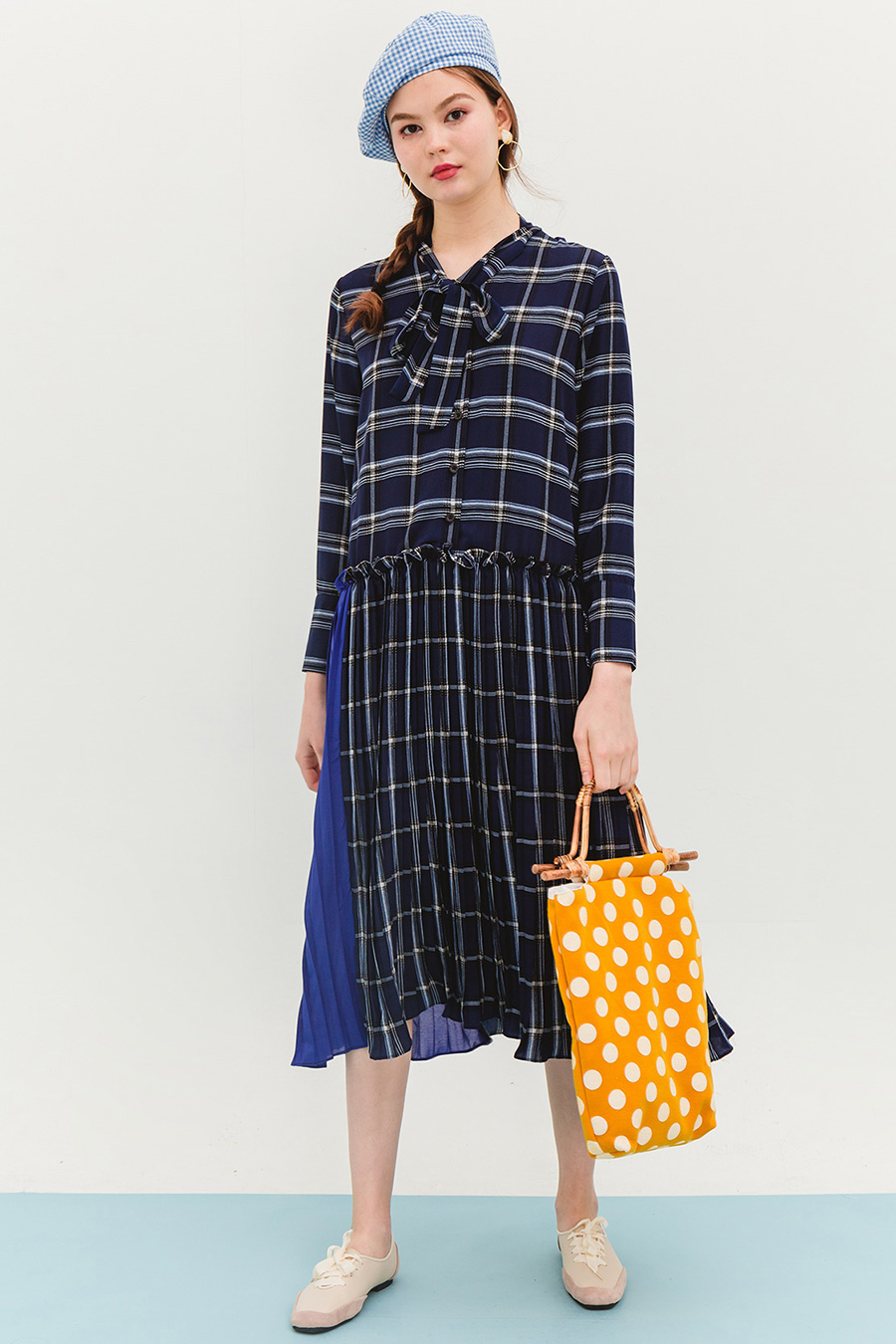 CARELL DRESS - OXFORD BLUE