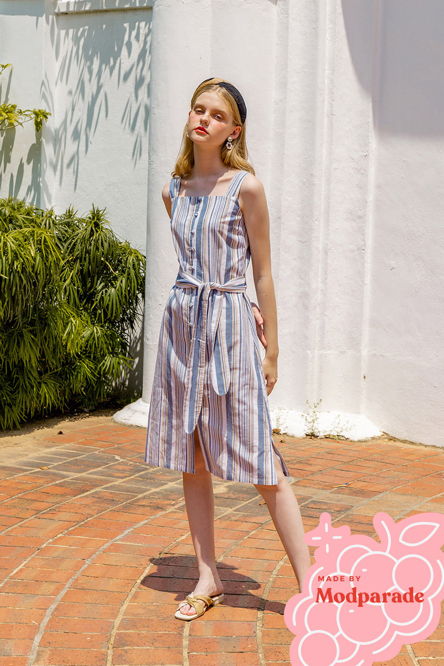 CAROLE DRESS - MADDIE STRIPE [BY MODPARADE]