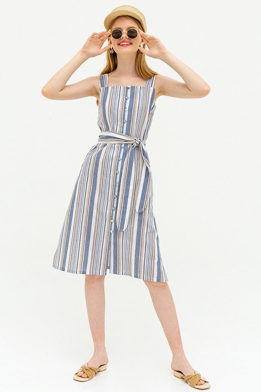 CAROLE DRESS - MADDIE STRIPE [BY MODPARADE]