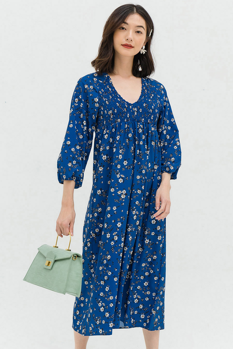 CAROLE DRESS - NAVY FLEUR