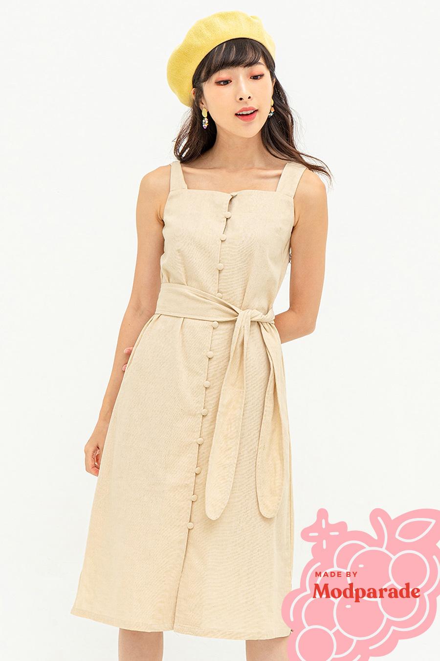 CAROLE DRESS - VANILLA CUSTARD [BY MODPARADE]