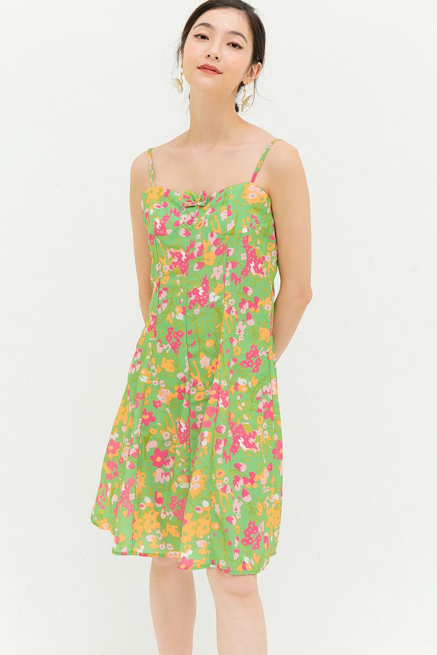 CARTER DRESS - PINE FLEUR