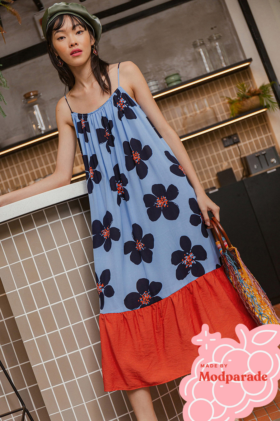 *BO* CASEY DRESS - BLUEBELL [BY MODPARADE]