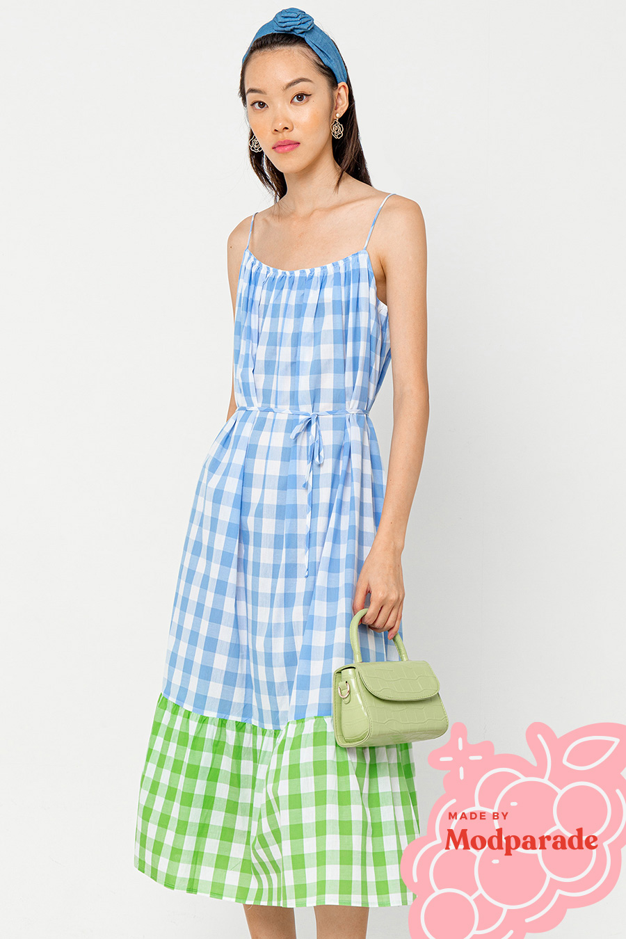*SALE* CASEY DRESS - GINGHAM [BY MODPARADE]