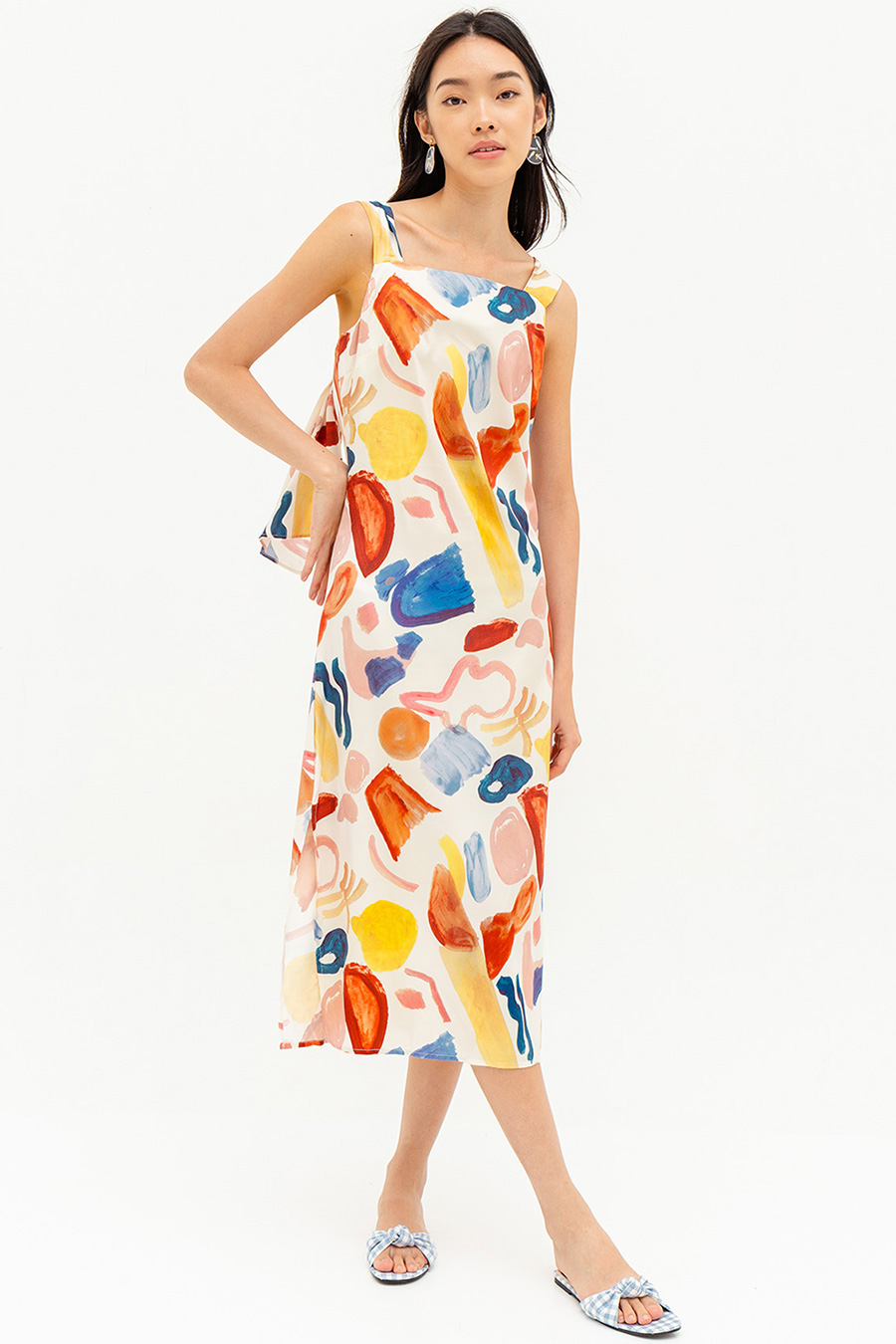 *BO* CATALINA DRESS - WATERCOLOURS