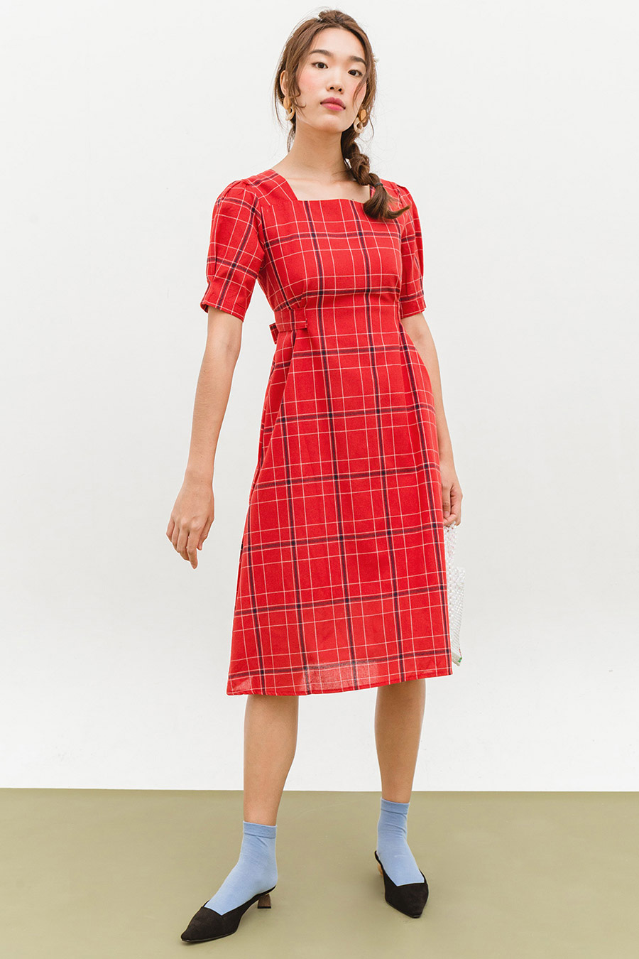 CECIL DRESS - PERSIAN CHECKS