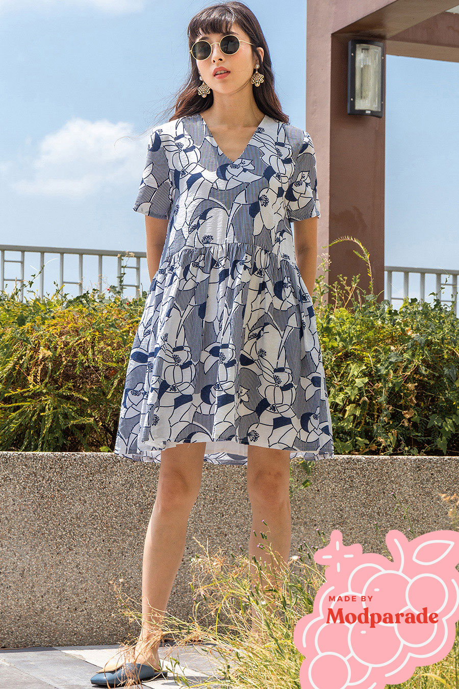 *RESTOCKED* CELESTE DRESS - PICOTEE NAVY [BY MODPARADE]
