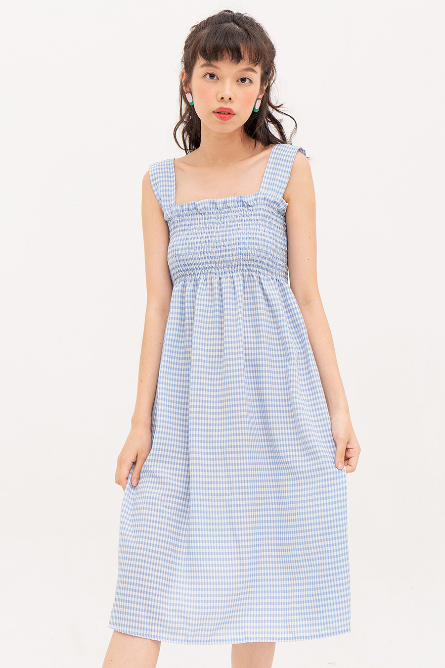 CERISE DRESS - GINGHAM